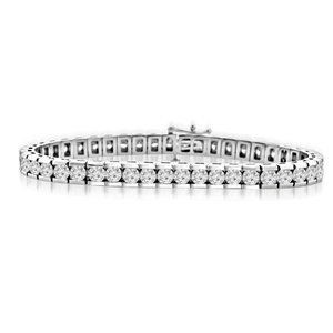 Jewelry - Sparkling round cut 6.75 carats diamonds channel s